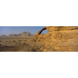 Arch in the desert of Wadi Rum